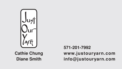 Just Our Yarn business card back